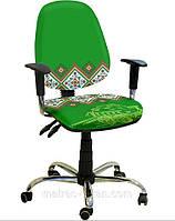 Кресло Бридж Хром Дизайн Украинский Стиль №2.