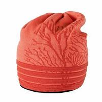 Теплая вязанная женская шапочка от Loman Польша Оранжевый, 53-55