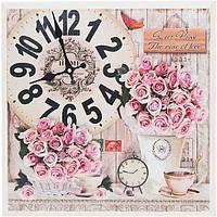 Часы настенные Charmant серые 42 см