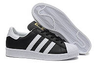 "Кроссовки Adidas Superstar ""Black/White/Gold"""