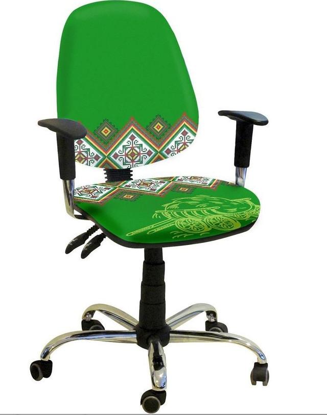 Кресло Бридж Хром Украинский Стиль 2. Технические характеристики: 65х75х110-119h