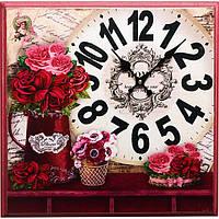Часы настенные Confiture красные 42x42 см