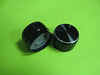 Ручка для потенциометра на ось 6мм, 26x17мм, алюминиевая черная