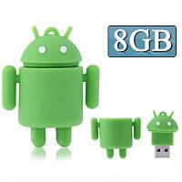 Флешка Android силиконовая USB Flash Disk (8GB) в металическом контейнере