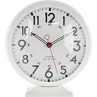 Часы настольные белые 23.5x24.7 см
