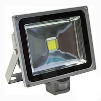 Прожектор с датчиком LED 20w 6500K IP44 1LED LEMANSO серый