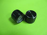 Ручка для потенциометра на ось 6мм, 21x17мм, алюминиевая черная