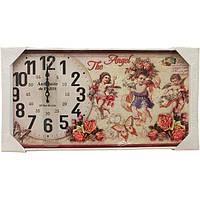 Часы настенные Cupidon белый 62x32 см