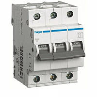 Автоматический выключатель Hager MC302A 2A 6 кА 3 полюса тип С