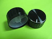 Ручка для потенциометра на ось 6мм, 30x17мм, алюминиевая черная