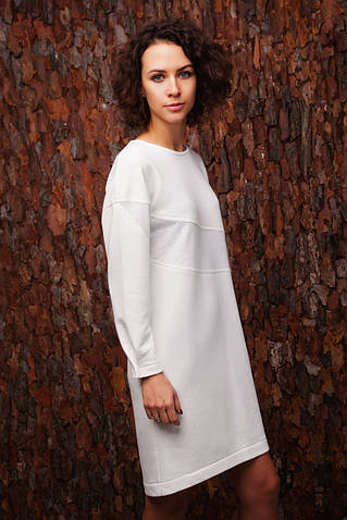 Платье-светшот белого цвета #Why not?