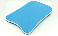 Досточка для плавания с отверстиями для рук 43 х 28 х 3 см.