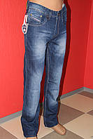 Модные джинсы классические Omore прямые с потёртостью 1401