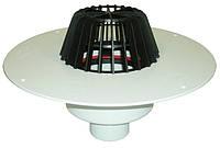 HL62P Воронка с листвоуловителем, с теплоизоляцией, с корпусом из ПВХ, с вертикальным выпуском