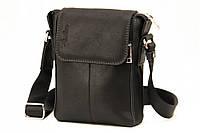 Кожаная мужская сумка Tom Stone 402 черная
