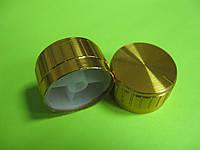 Ручка для потенциометра на ось 6мм, Золотая D=30мм H=17