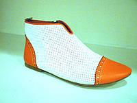 Женские ботинки белые, фото 1