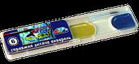 """Акварель Медовая полусухая """"Мозайка"""" 6 цветов, без кисточки, пластиковая упаковка"""