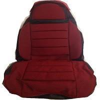 Чехлы универсальные Pilot B кожзам черный + ткань красная (с карманом)