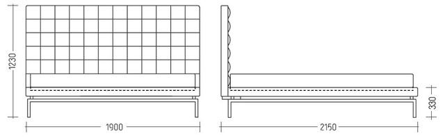 Кровать полуторная Одри (схема)