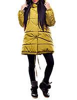 """Теплая зимняя куртка """"Юнис Оливка"""" для модных девушек"""