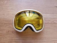 Стильная маска Be Nice в рамке. Белая рамка. Желтая линза
