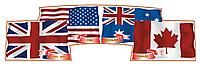 Стенд для кабинета английского языка Флаги англоязычных стран