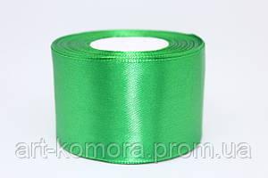 Лента атласная 5 см, зеленая №19