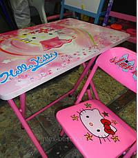 Детская парта - столик со стульчиком DT 18-11 Hello Kitty ом Спанч Боб, фото 2