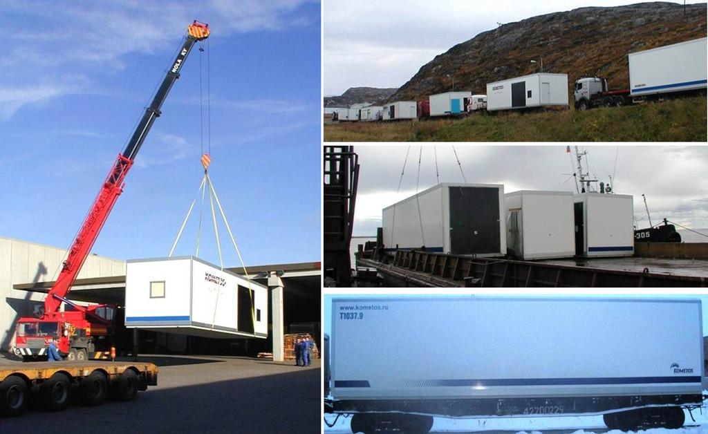 После завершения стадии комплектации - подготовленные и законсервированные модули грузят на транспорт для доставки Заказчику. Доставка может производиться автомобильным, морским, железнодорожным транспортом.