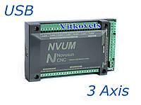 Контроллер шагового двигателя NVUM на 3 оси ЧПУ USB Mach3