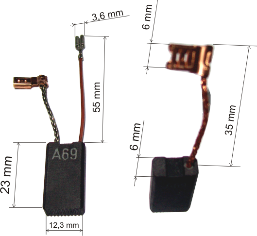 Щітки вугільні GBH 5-40, GSH 5 BOSCH