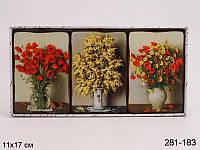 Комплект из декоративных панно из 3-х штук 17X17 см ed281-183