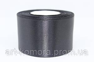 Атласная лента 5 см, черная №39