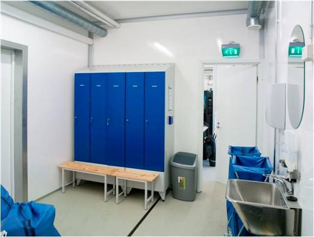 В состав предприятия также входят полностью укомплектованные санитарно-бытовые помещения персонала.