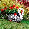 Вазон садовый уличный бетонный «Лебедь» - Фото