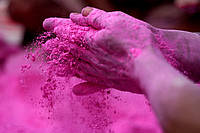 Фарба Холі (Гулал), Розова, фасування 50 грам, суха порошкова фарба для фествиалів, флешмобів