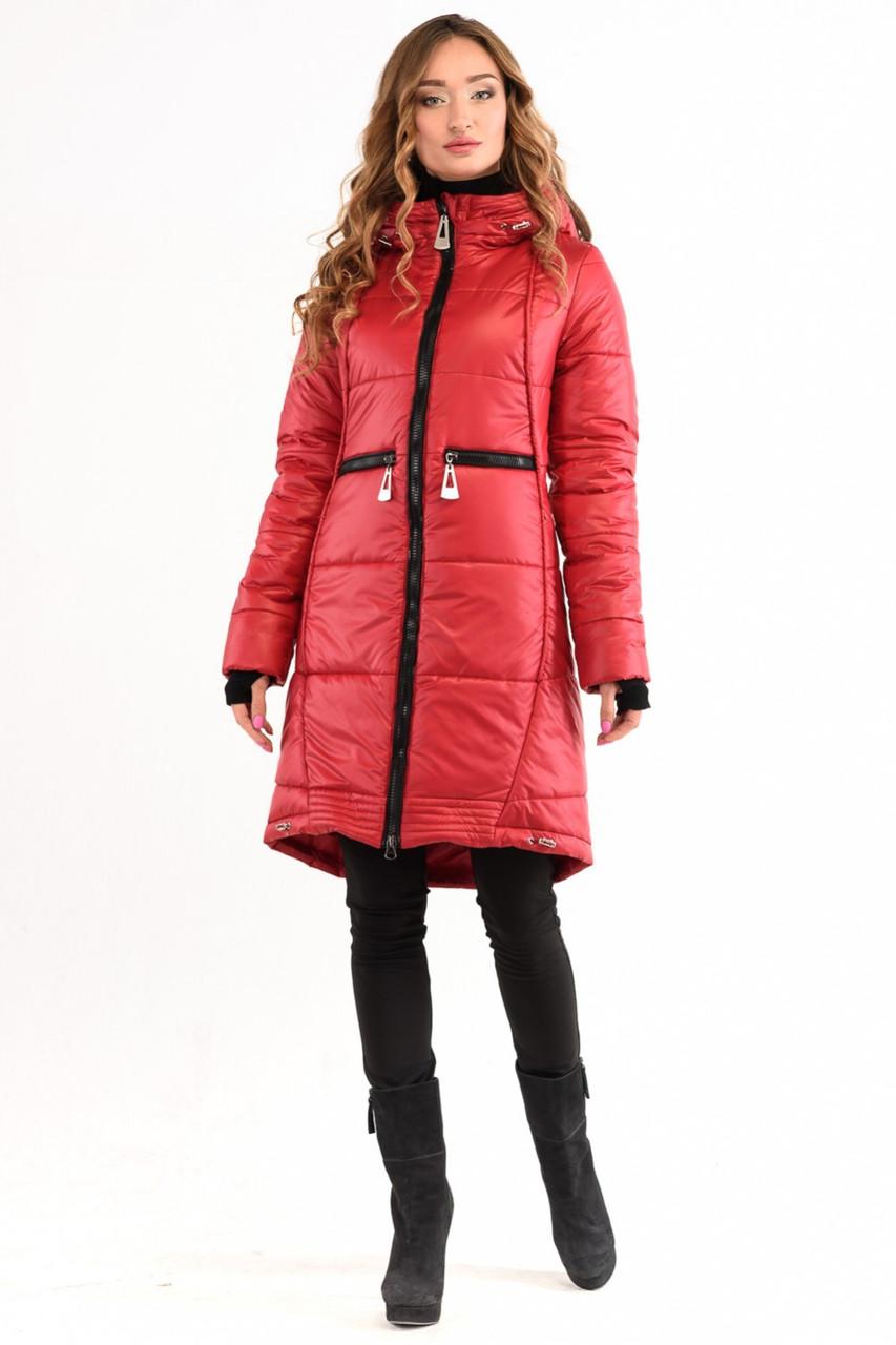 Куртка пуховик № 1772 червоний  повний каталог виробника fb4c4a1d808d3