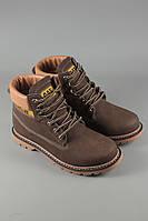Ботинки. Модные ботинки. Ботинки высокие. Ботинки Сaterpillar коричневые с мехом