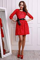 Нарядное платье с бархатным рисунком