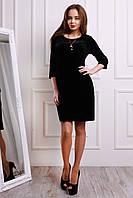 Нарядное черное платье из бархата