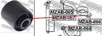 Сайлентблок цапфы нижний Perfect AD25MZ305 для MAZDA 3