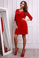 Нарядное красное платье из бархата