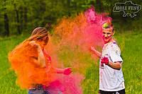Фарба Холі (Гулал), Оранжева, 50 грам, суха порошкова фарба для фестивалів, флешмобів, фото 1