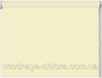 Тканевые рулонные шторы Black out (блэкаут) МОЛОЧНЫЙ, РАЗМЕР 150х170 см