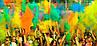 Фарба Холі (Гулал), Жовта, 50 грам, суха порошкова фарба для фестивалів, флешмобів