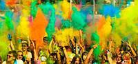 Фарба Холі (Гулал), Жовта, 50 грам, суха порошкова фарба для фестивалів, флешмобів, фото 1