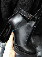 Ботинки Б-1664 из натуральной кожа черного цвета