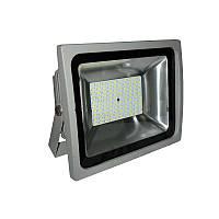 Прожектор  LED  50w 6500K IP65 100LED LEMANSO серый