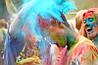 Фарба Холі (Гулал), Бірюзова, 50 грам, суха порошкова фарба для фестивалів, флешмобів